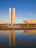 Brazil, Distrito Federal-Brasilia, Brasilia, National Congress of Brazil Photographic Print by Jane Sweeney