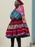 Peru, an Old Woman at Abra La Raya Photographic Print by Nigel Pavitt