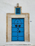 Tunisia, Sidi Bou Said, Building Detail Photographic Print by Walter Bibikow