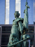 Statue of La Defense of Paris in the Main Business District of Paris, La Defense, France Photographic Print by Carlos Sanchez Pereyra