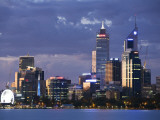 Australia, Western Australia, Perth; the Swan River and City Skyline at Dusk Photographic Print by Andrew Watson