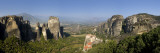 Greece, Thessaly, Meteora, Panoramic View of Meteora and Holy Monastery of Rousanou Photographic Print by Michele Falzone