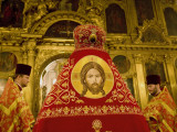 Russia, St;Petersburg; During an Easter Orthodox Ceremony at Vladimirski Cathedral Fotografisk tryk af Ken Sciclina
