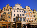 Czech Republic, Prague; Houses in the Old Town Square, Staromestke Namesti Photographic Print by Ken Sciclina