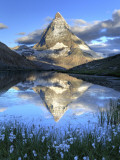 Switzerland, Valais, Zermatt, Matterhorn (Cervin) Peak and Riffel Lake Photographic Print by Michele Falzone