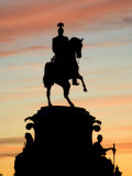 Russia, St;Petersburg; Silhoutte of Tsar Nicholas' I Monument Against a Dramatic Evening Light Photographic Print by Ken Sciclina