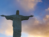 Brazil, Rio De Janeiro, Cosme Velho, Chirst the Redeemer Statue Atop Cocovado Photographic Print by Jane Sweeney