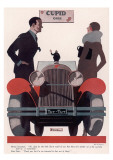 Art Deco Cupid Cars Giclee Print