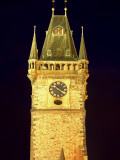 Czech Republic, Prague; the Astronomical Clock Lit Up at Staromestke Namesti, the Old Town Square Photographic Print by Ken Sciclina