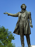 Russia, St Petersburg; Sculpture of Pushkin by Michael Anikushin Outside the Russian Museum Photographic Print by Nick Laing