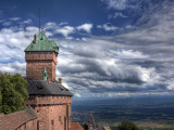 Haut-Koenigsbourg Castle, Orschwiller, Alsace, France Fotografie-Druck von Ivan Vdovin