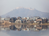 The Fort Looks over Dal Lake at Srinagar, Kashmir, India Photographic Print by Julian Love