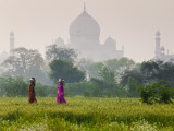 Women Carrying Water Pots, Taj Mahal, Agra, India Photographic Print by Peter Adams
