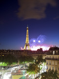 Bastille Day Fireworks, Eiffel Tower, Paris, France Photographic Print by Jon Arnold