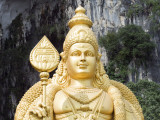 South East Asia, Malaysia, Kuala Lumpur, Statue of Muruga, Lord Subramania, at Batu Caves Photographic Print by Christian Kober