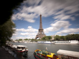 Eiffel Tower and River Seine, Paris, France Photographic Print by Jon Arnold