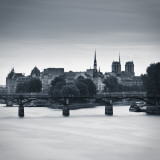 Pont Des Arts, Notre Dame Cathedral and River Seine, Paris, France Photographic Print by Jon Arnold