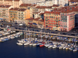 France, Cote D'Azur, Nice; Yachts in the Bassin Du Commerce Seen from the Parc Du Chateau Photographic Print by Ken Sciclina