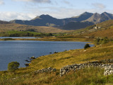 Uk, North Wales, Snowdonia; the Snowdon Horseshoe Rises Above Llyn Mymbyr Photographic Print by John Warburton-lee