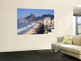 Brazil, Rio De Janeiro, Ipenema Beach Looking Towards Leblon Wall Mural by Jane Sweeney