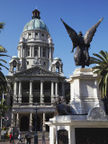 Statue and City Hall, Durban, Kwazulu-Natal, South Africa Photographic Print by Ian Trower