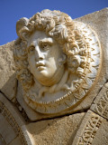 Libya; Tripolitania; Khums; the Head of the Medusa on Arches in the Severan Forum at Leptis Magna Photographic Print by Ken Sciclina