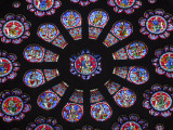 France, Aquitaine, Pau; a Stained Glass Window in the Church of St Martin in Pau Photographic Print by Katie Garrod
