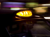 Taxicab at Night, London, Uk Photographic Print by Carlos Sanchez Pereyra
