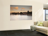 Pont Des Arts and River Seine, Paris, France Wall Mural by Jon Arnold