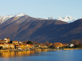 Europe, Italy, Lombardy, Lakes District, Feriolo Town, Sunrise on Lake Maggiore Photographic Print by Christian Kober