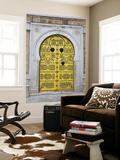 Tunisia, Tunis, Medina, Door on Dar El Jeld Street Vægplakat af Walter Bibikow