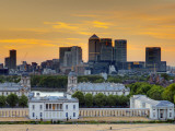 Uk, London, Greenwich, Greenwich Park, National Maritime Musuem and Canary Wharf Photographic Print by Alan Copson