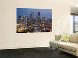 Singapore, City Skyline at Night Wall Mural by Steve Vidler