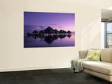 Beach Bungalows, Punaauia, Tahiti, French Polynesia Wall Mural by Walter Bibikow