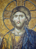 Turkey, Istanbul, Hagia Sophia; Detail from the Deesis Mosaic Photographic Print by Nick Laing