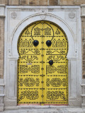 Tunisia, Tunis, Medina, Door on Dar El Jeld Street Photographic Print by Walter Bibikow