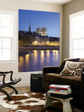 Notre Dame and Ile De La Cite, Paris, France Wall Mural by Jon Arnold