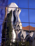France, Cote D'Azur, Nice; a Distorted Reflection of the Eglise Notre Dame Photographic Print by Ken Sciclina