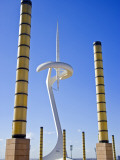 Telecommunications Tower by Architect Santiago Calatrava, Montjuic, Barcelona; Catalonia, Spain Photographic Print by Carlos Sanchez Pereyra