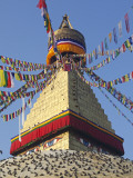 Nepal; Kathmandu, Boudinath Stupa Photographic Print by Mark Hannaford