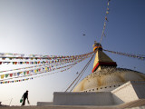 Nepal; Kathmandu, Boudinath Stupa Photographic Print by Mark Hannaford
