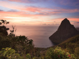 Caribbean, St Lucia, Petit Piton and Anse Des Pitons Beach Photographic Print by Michele Falzone