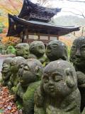 Asia, Japan; Kyoto, Sagano, Arashiyama, Otagi Nenbutsu Dera Temple, Stone Images Photographic Print by Christian Kober