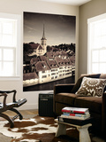 Switzerland, Bern, Old Town (Unesco World Heritage Site) and Aare River Wall Mural by Michele Falzone