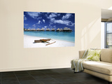 Beach at Bora Bora Nui Resort, Bora Bora, French Polynesia Wall Mural by Walter Bibikow