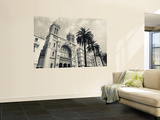 Tunisia, Tunis, Avenue Habib Bourguiba, Cathedral of St; Vincent De Paul Wall Mural by Walter Bibikow