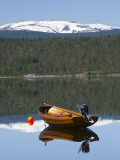 Traditional Fishing Boat on Majavatnet Lake, Nordland, Norway Photographic Print by Doug Pearson