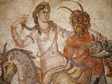 Libya, Cyrene; Mosaic of Nymph and Satyr from Villa of Jason Magnus in the Museum Photographic Print by Nick Laing