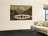 China, Yunnan Province, Lijiang, Black Dragon Pool Park and Jade Dragon Snow Mountain Wall Mural by Walter Bibikow