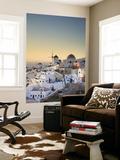 Greece, Cyclades, Santorini, Oia Town and Santorini Caldera Wall Mural by Michele Falzone
